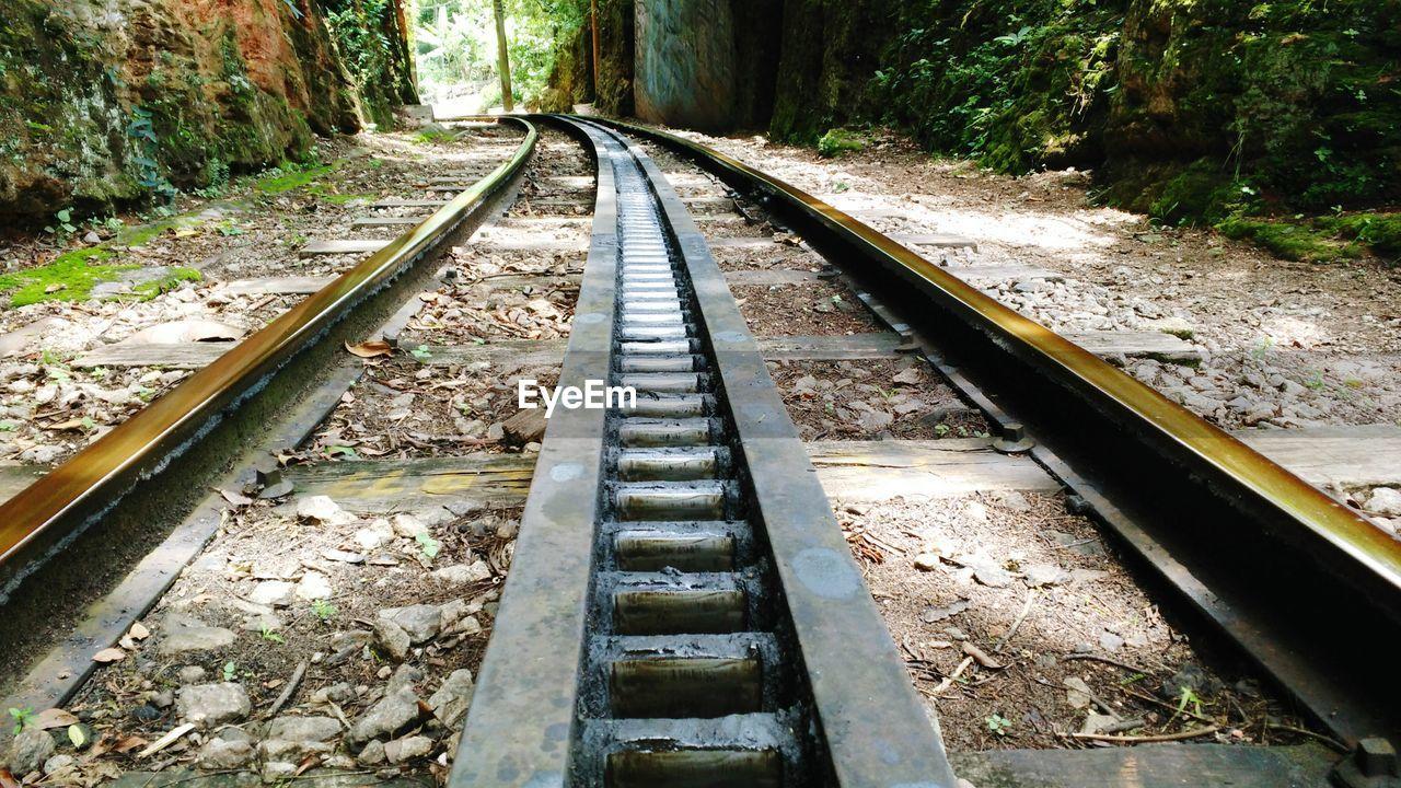 High angle view of corcovado rack railway