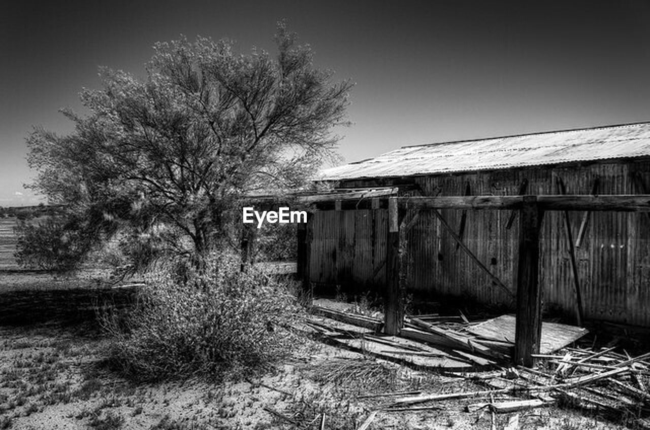 built structure, architecture, abandoned, no people, building exterior, outdoors, bare tree, tree, day, sky, nature
