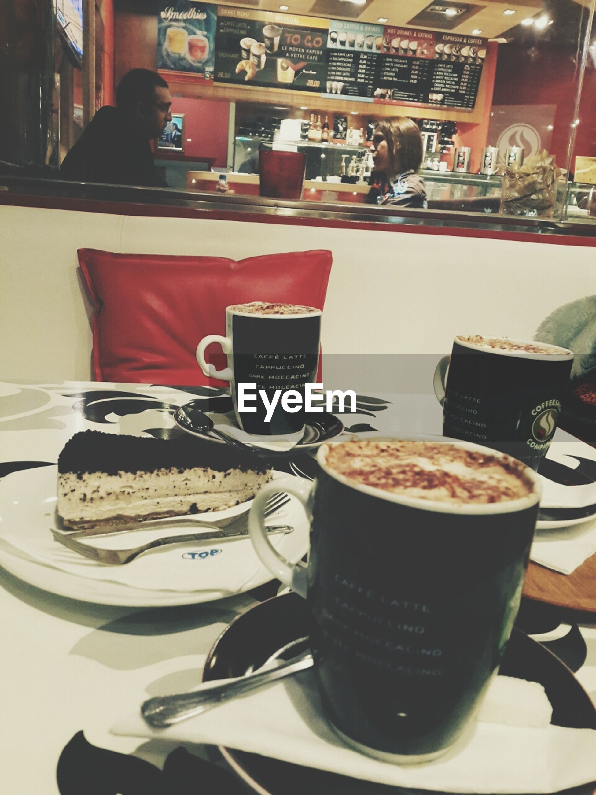 indoors, food and drink, table, still life, food, freshness, drink, plate, ready-to-eat, sweet food, coffee cup, refreshment, indulgence, close-up, unhealthy eating, dessert, cake, cup, restaurant, serving size