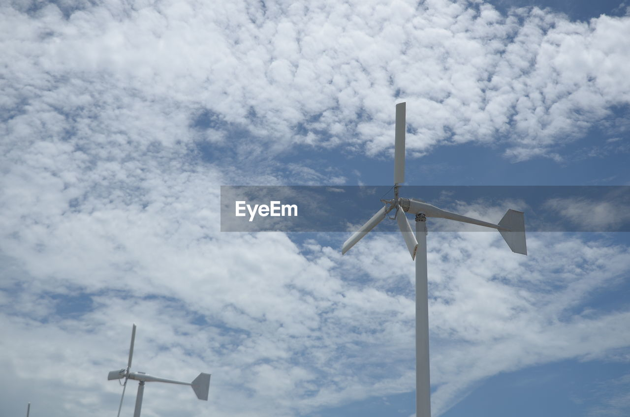 cloud - sky, sky, low angle view, renewable energy, turbine, wind power, fuel and power generation, wind turbine, alternative energy, day, environmental conservation, no people, environment, nature, technology, outdoors, sustainable resources, electricity, beauty in nature, power supply, directly below