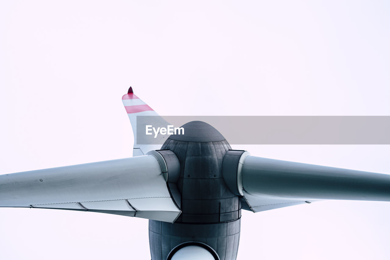 Detail view of wind energy turbine head