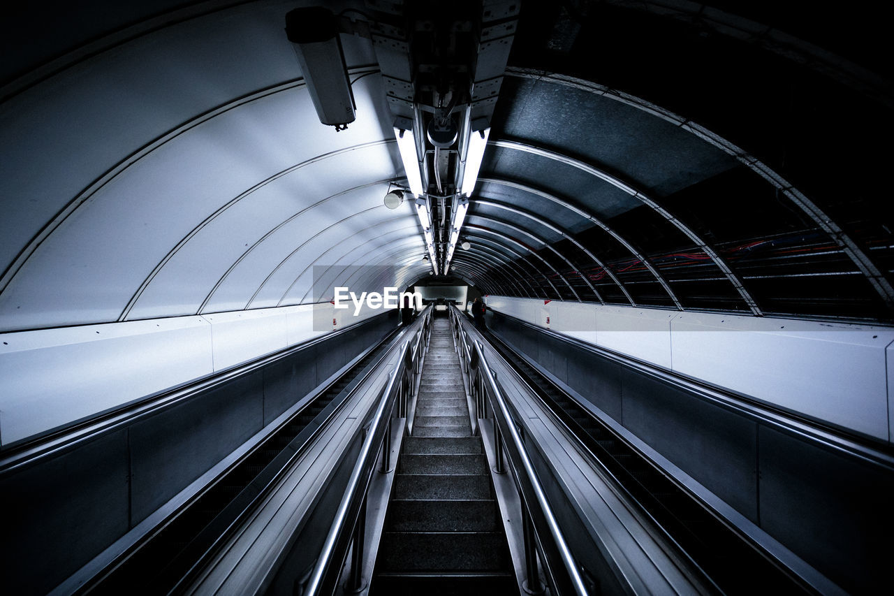 Moving Walkway In Subway Station