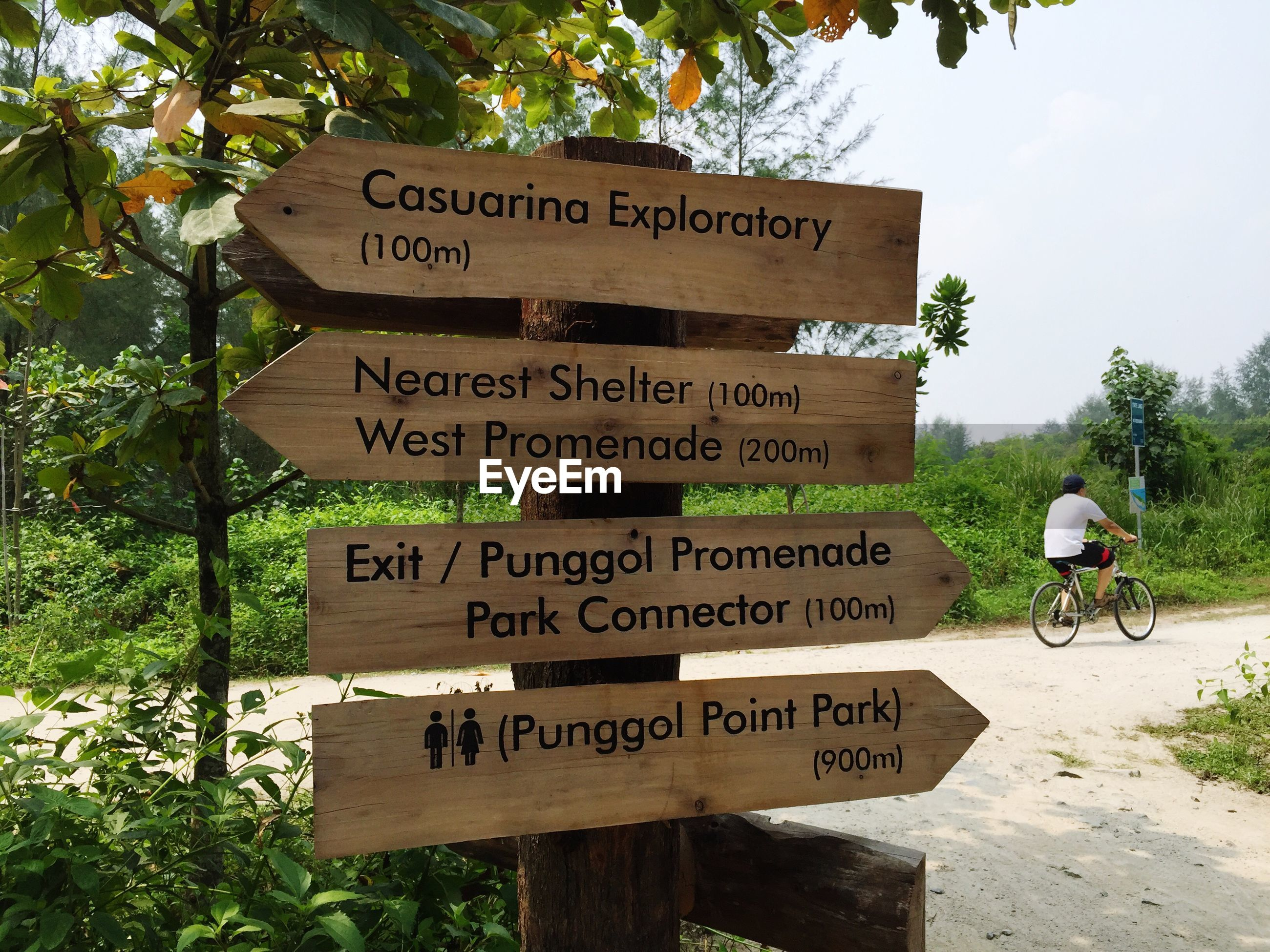 Close-up of information signs