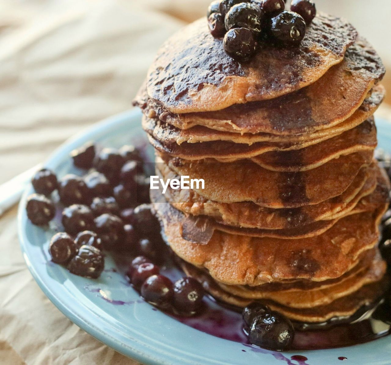 Close-Up Of Pancake In Plate On Table