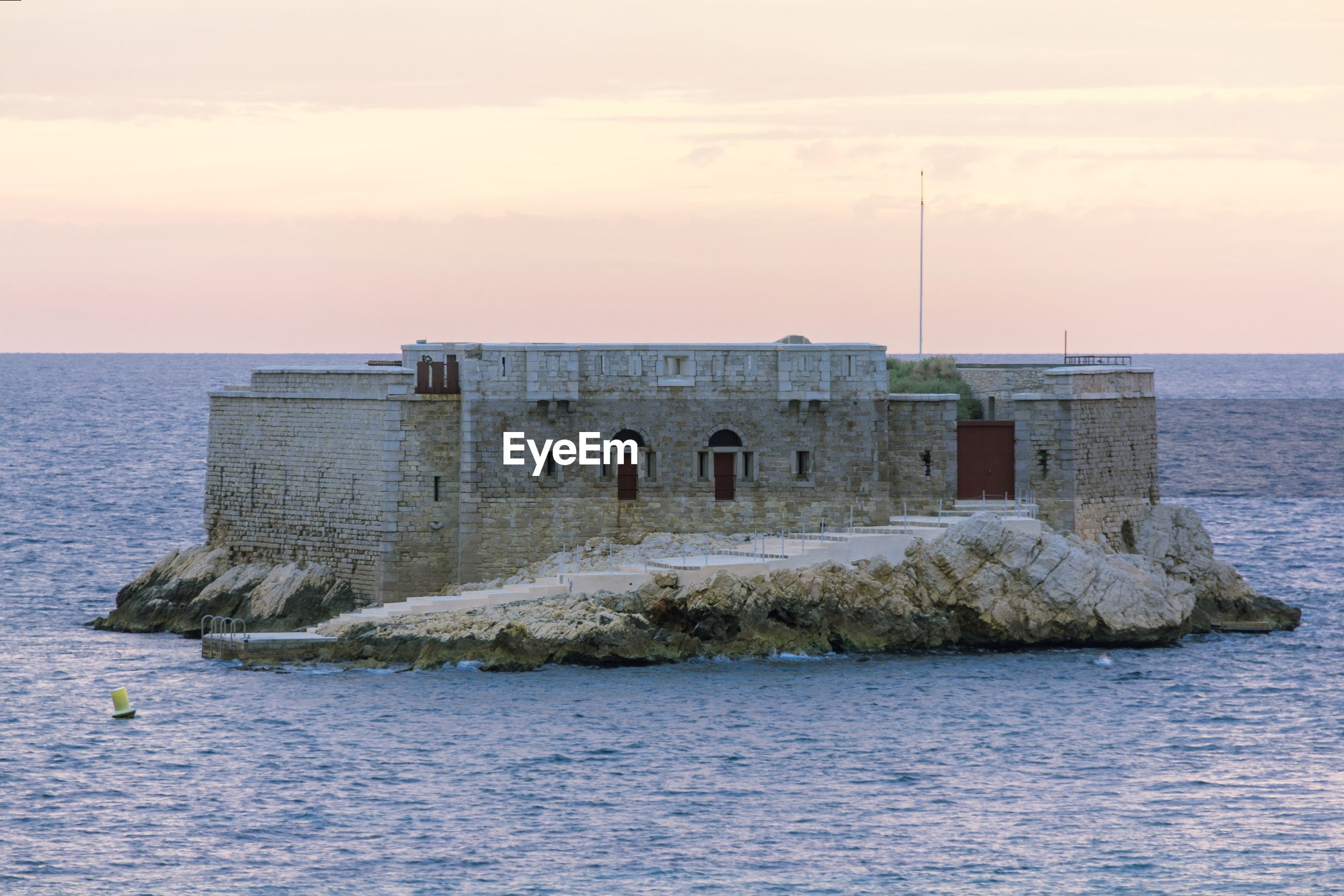 VIEW OF FORT AGAINST THE SEA