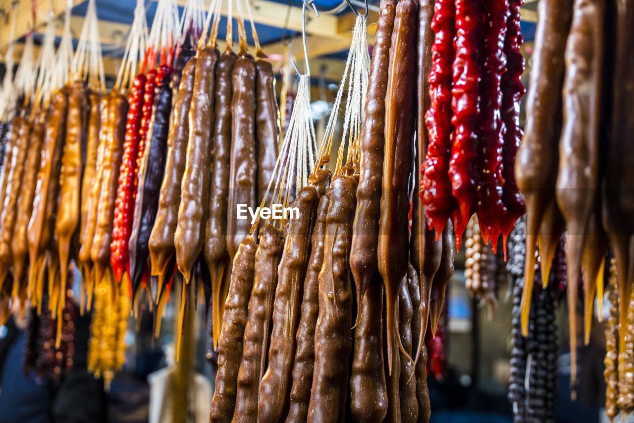Tschuktschela for sale at market stall