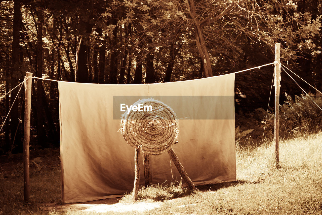 Archery Target By Fabric On Field