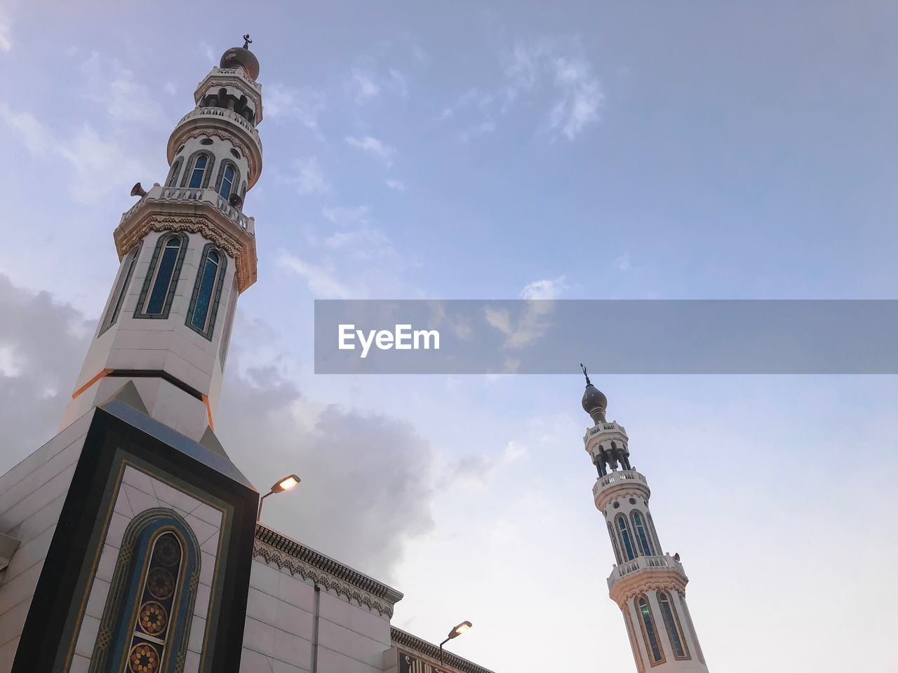 Low angle view of mosque sky
