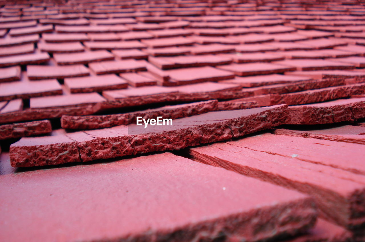Close Up Of Tiled Roof