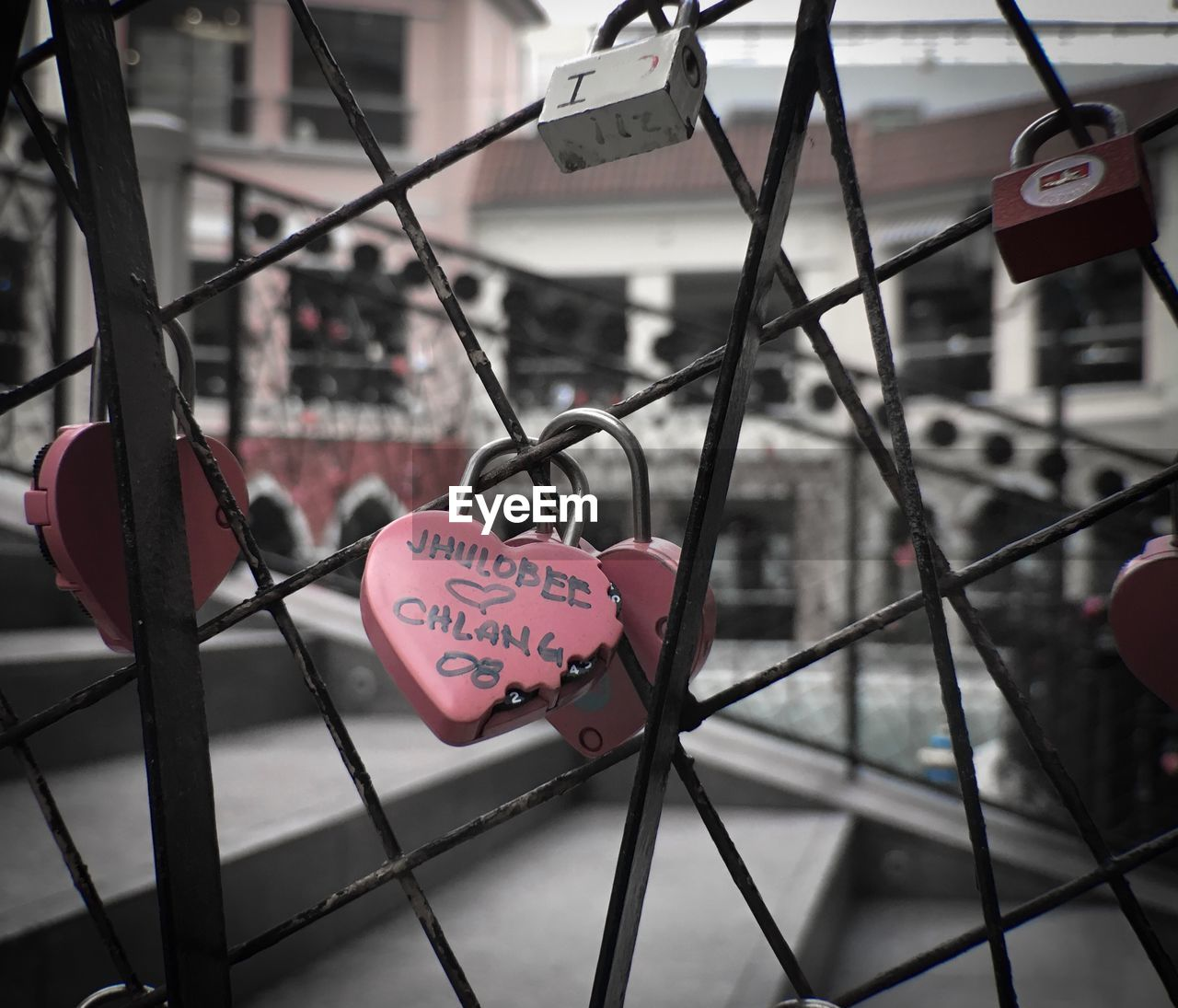 text, love, heart shape, western script, emotion, positive emotion, communication, safety, metal, lock, focus on foreground, padlock, security, protection, fence, close-up, day, barrier, hanging, love lock, no people, outdoors, message