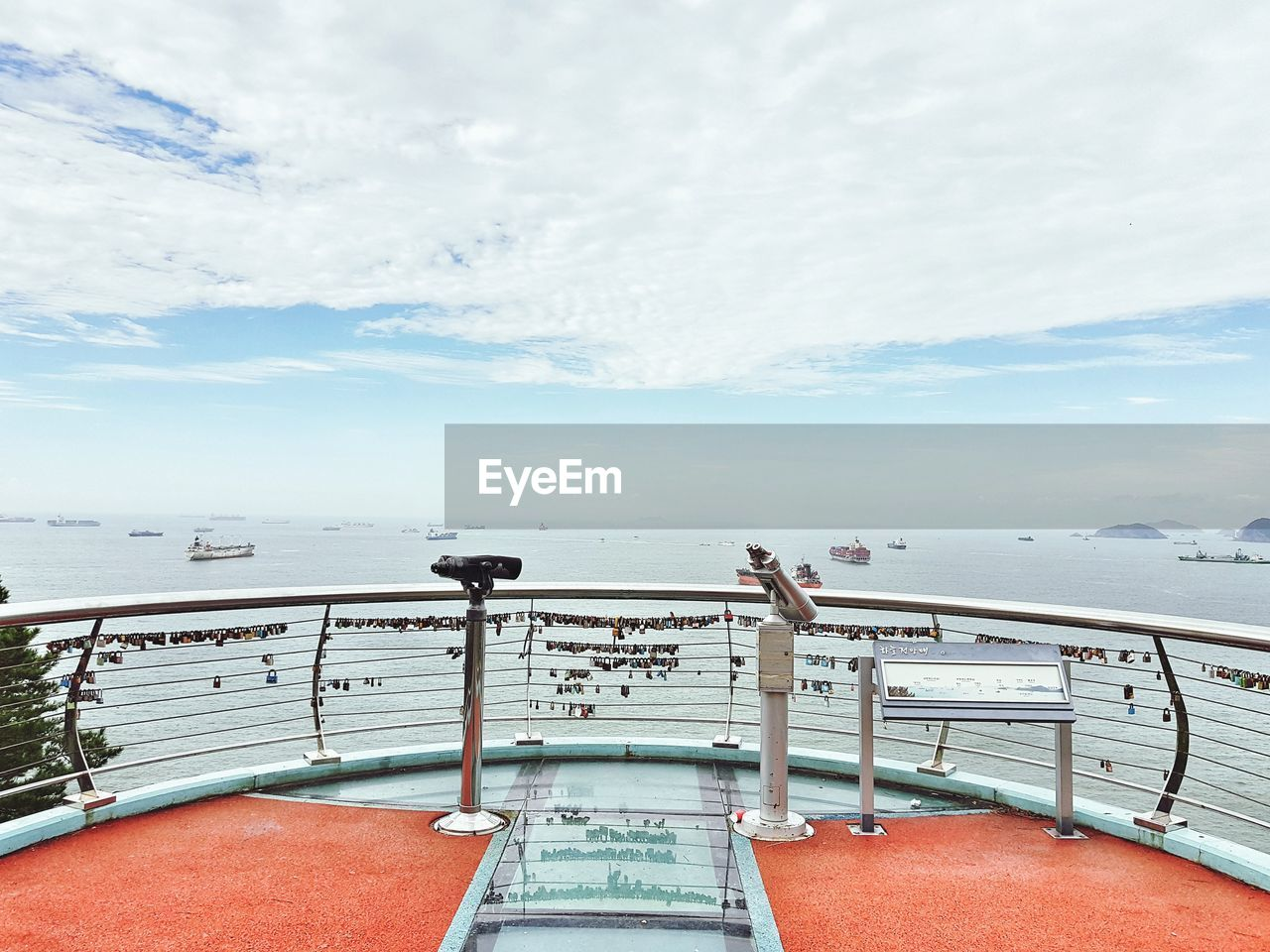 sky, water, cloud - sky, sea, railing, nautical vessel, day, nature, scenics - nature, ship, transportation, horizon over water, horizon, beauty in nature, deck, boat deck, outdoors, mode of transportation, architecture, cruise ship