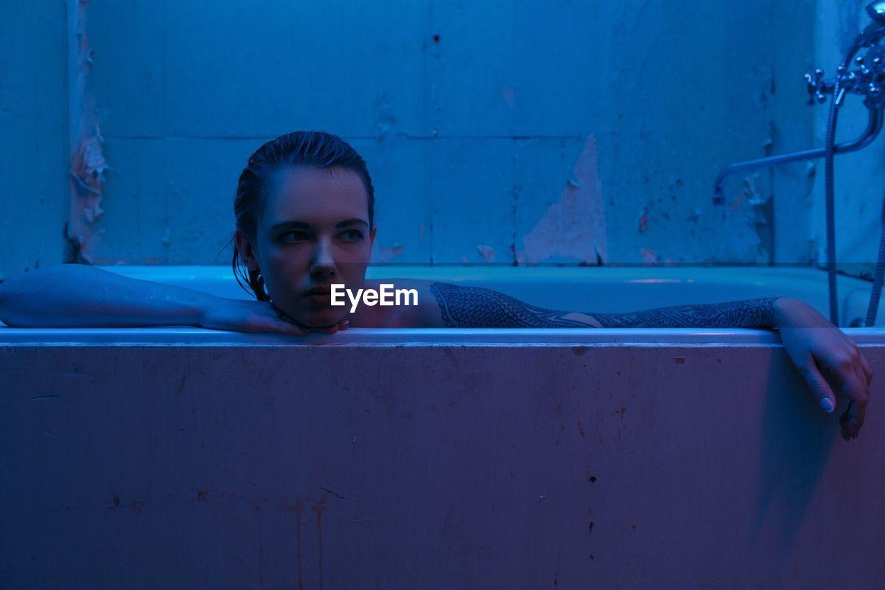 Portrait Of Woman In Bath