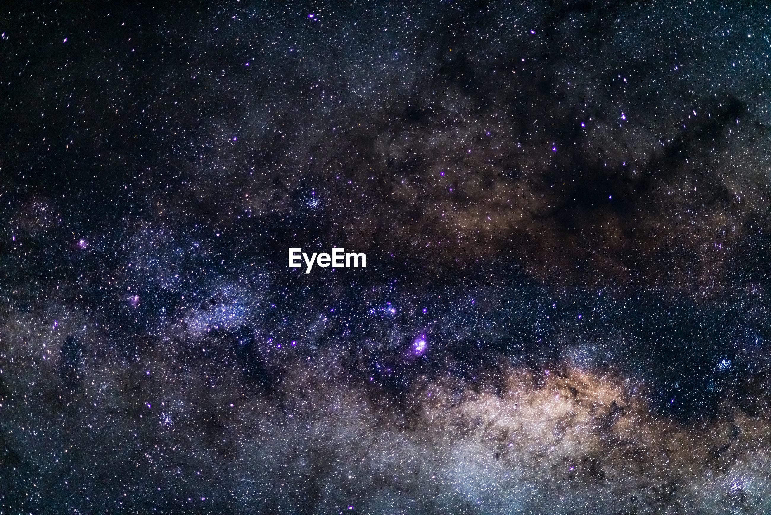 FULL FRAME SHOT OF STAR FIELD AGAINST SKY