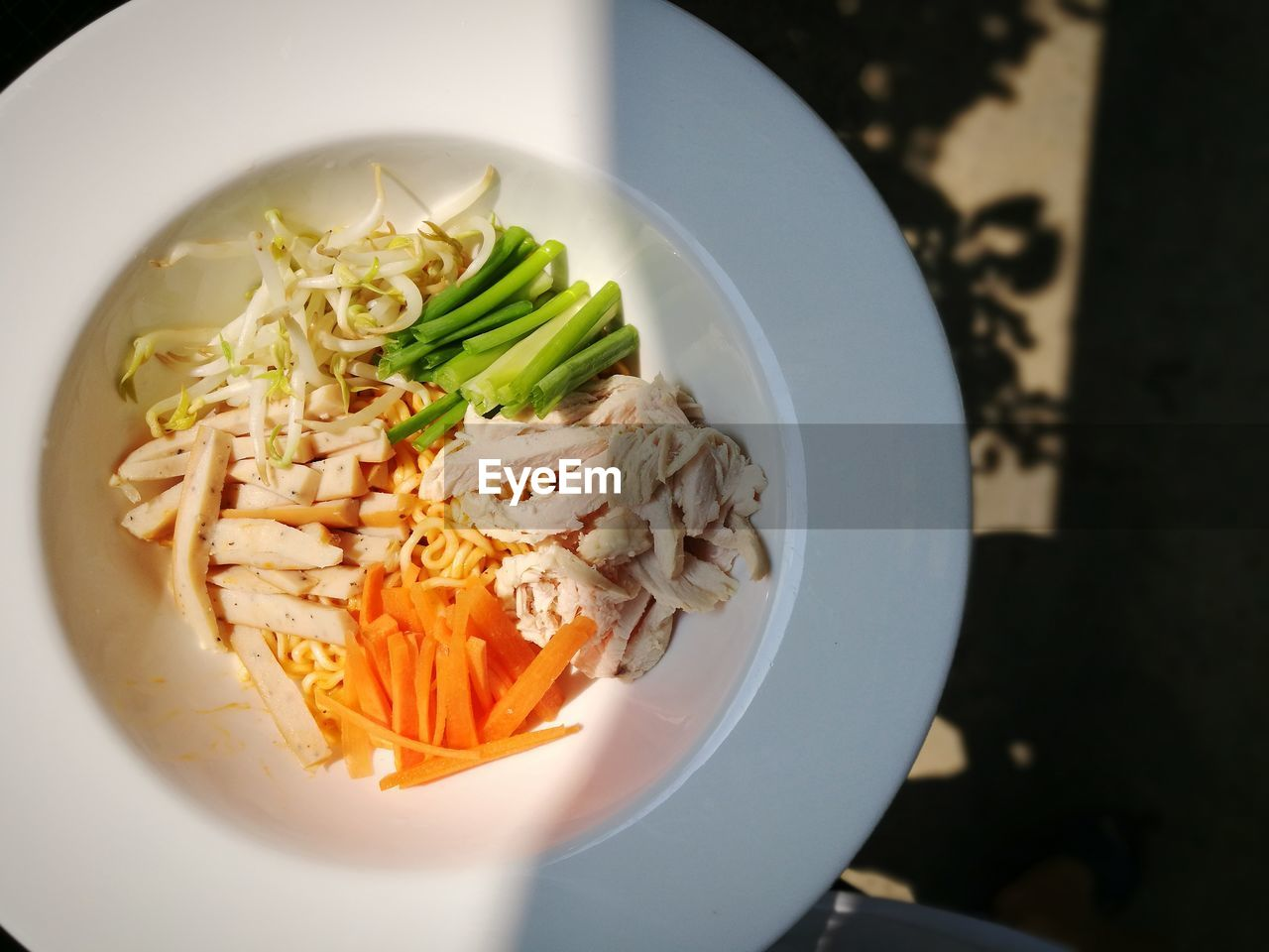 food, food and drink, healthy eating, wellbeing, freshness, ready-to-eat, indoors, pasta, vegetable, italian food, no people, close-up, still life, serving size, bowl, plate, high angle view, table, focus on foreground, meal, garnish, temptation, dinner