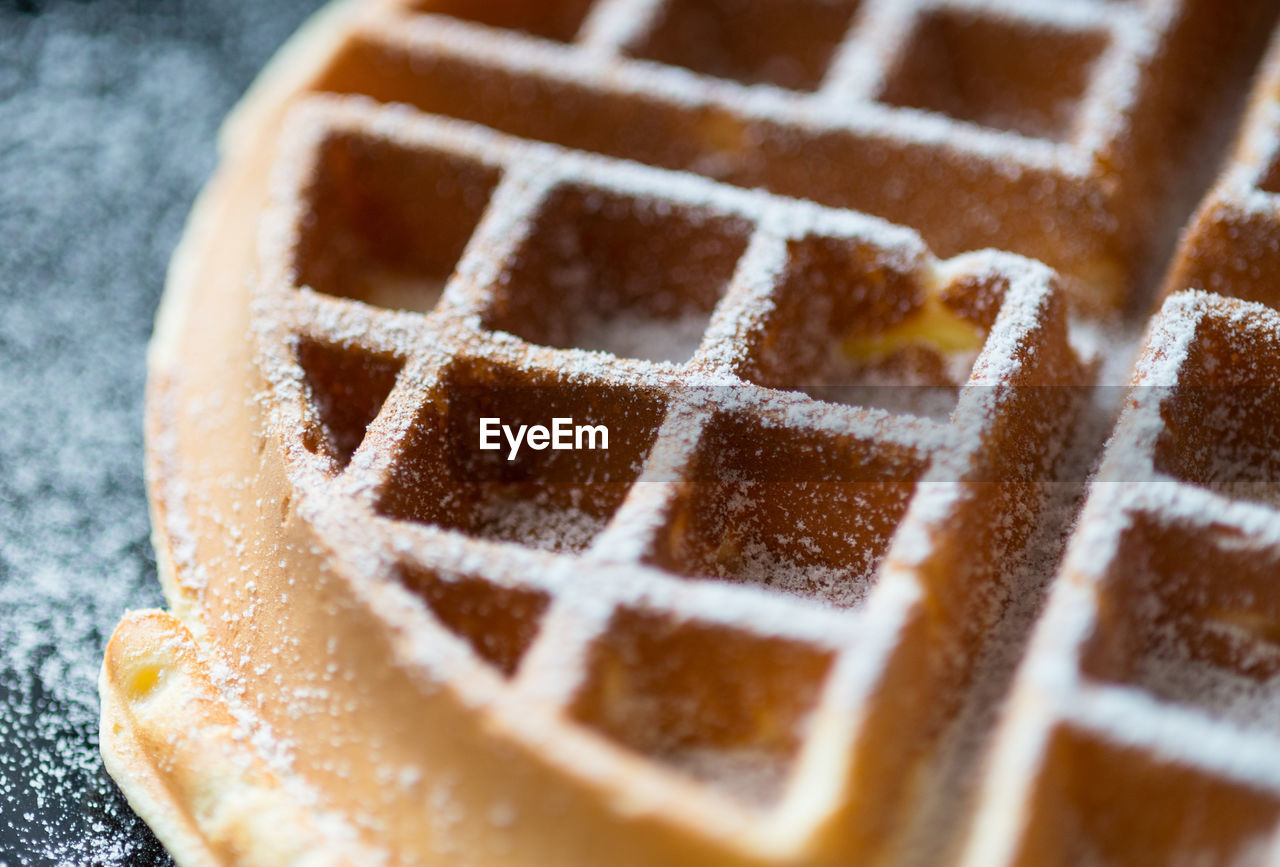 Close-Up Of Waffle
