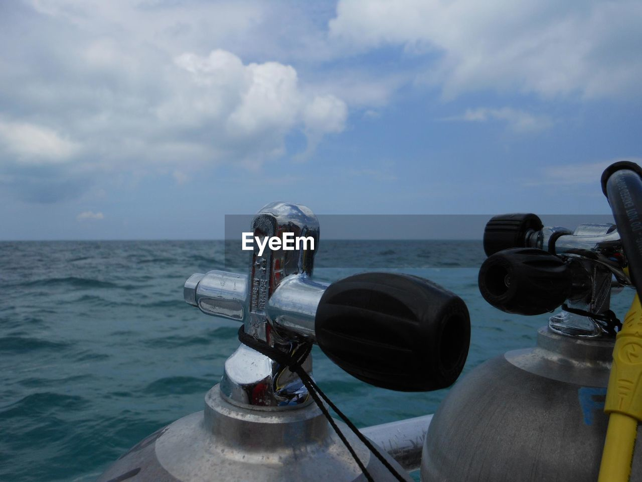 sea, sky, horizon over water, cloud - sky, water, no people, outdoors, nature, day, scenics, nautical vessel, beauty in nature, coin-operated binoculars, close-up, technology