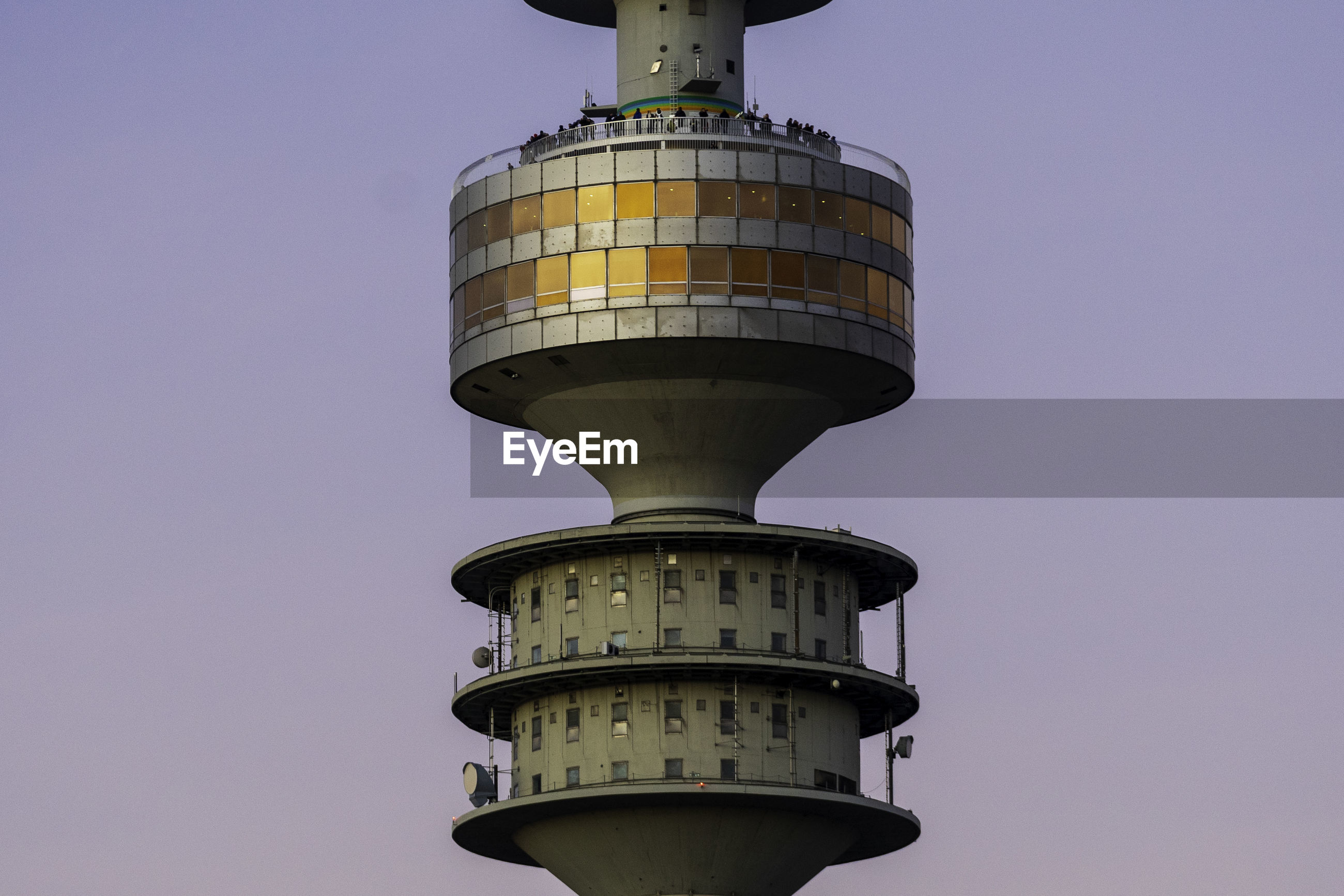 LOW ANGLE VIEW OF TOWER AGAINST SKY IN CITY