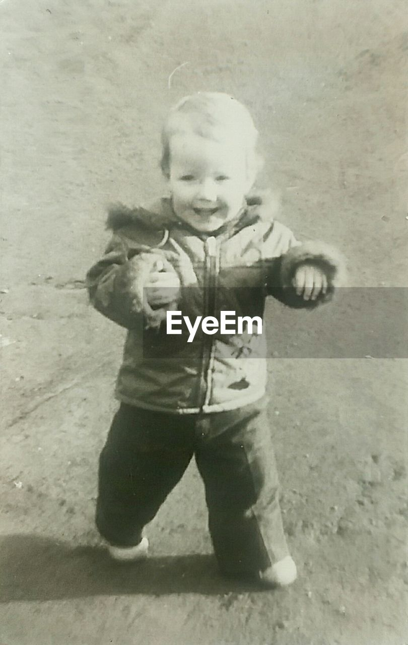 childhood, front view, full length, one person, outdoors, day, people