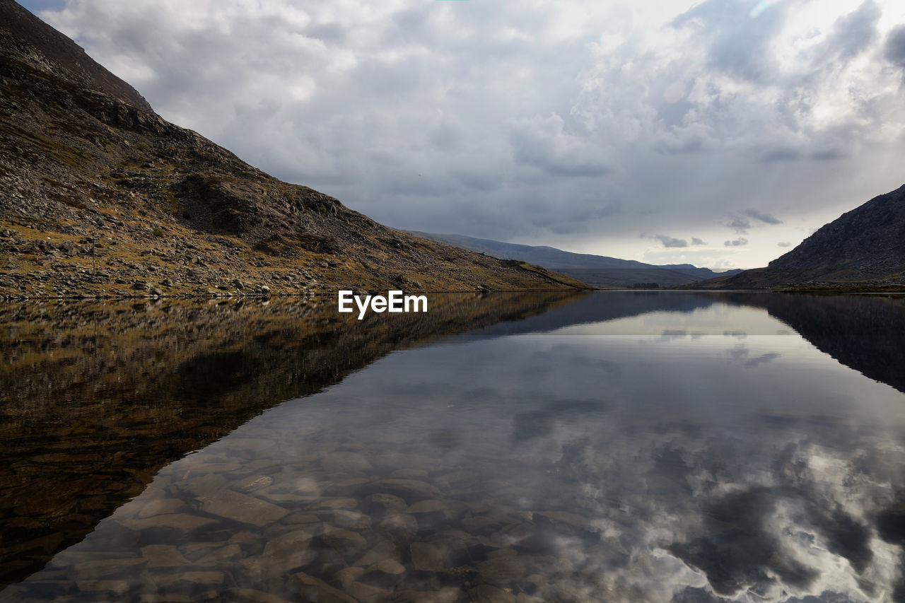 Reflection Of Mountain In Llyn Ogwen Lake