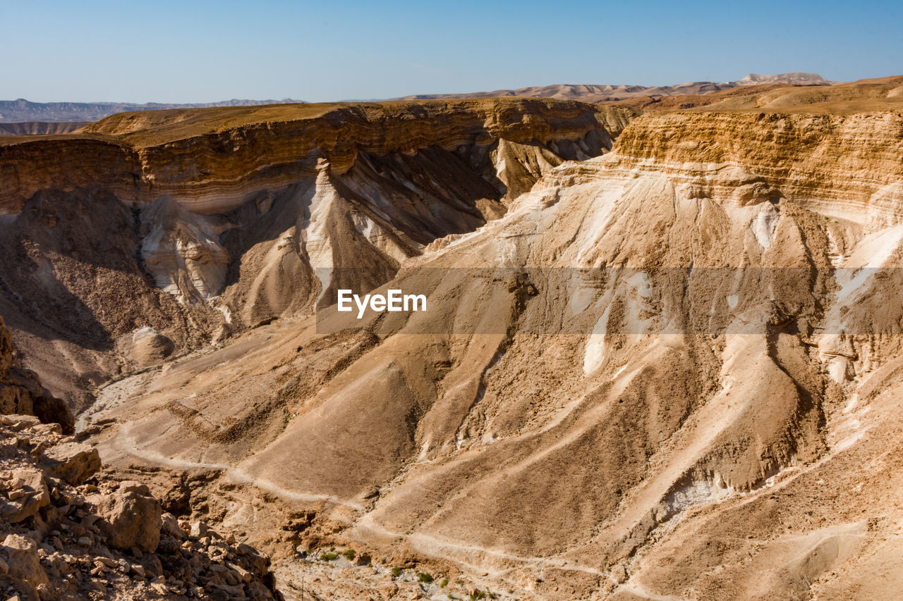 EXTREME TERRAIN NEAR DEAD SEA IN ISRAEL