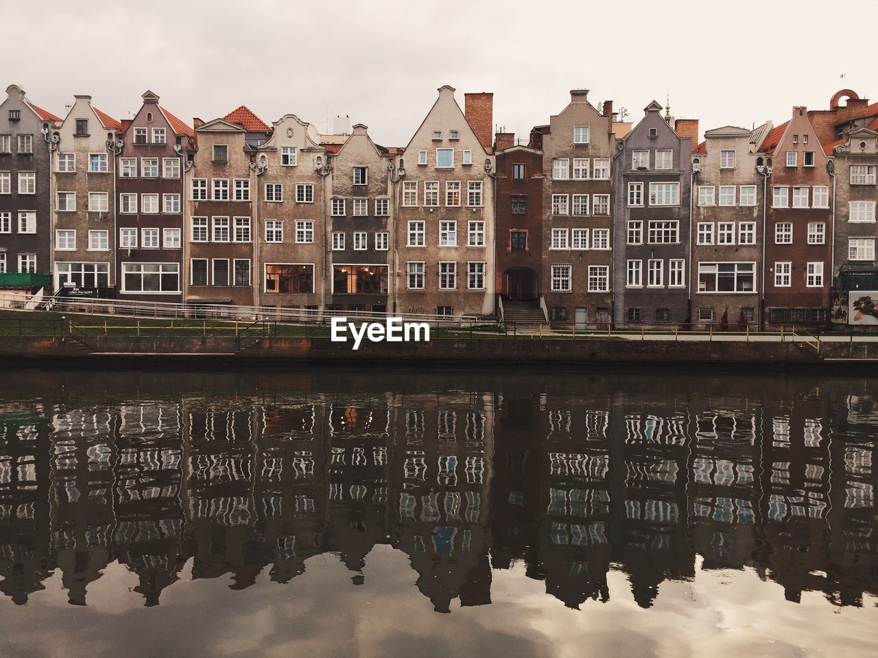 Reflection of buildings in river