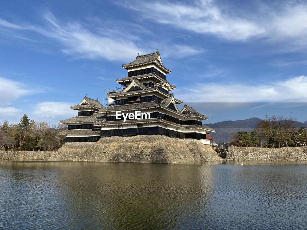 View of matsumoto castle against sky