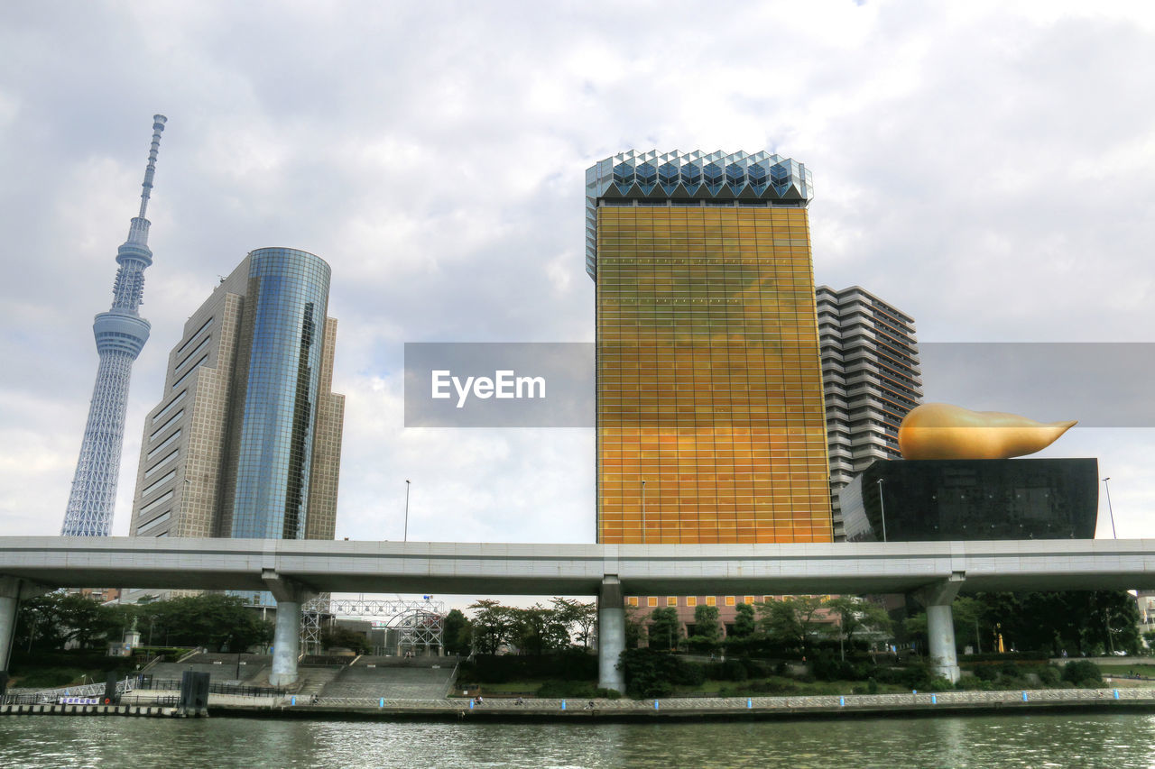 architecture, built structure, building exterior, sky, cloud - sky, tower, day, no people, low angle view, skyscraper, water, outdoors, city, nature