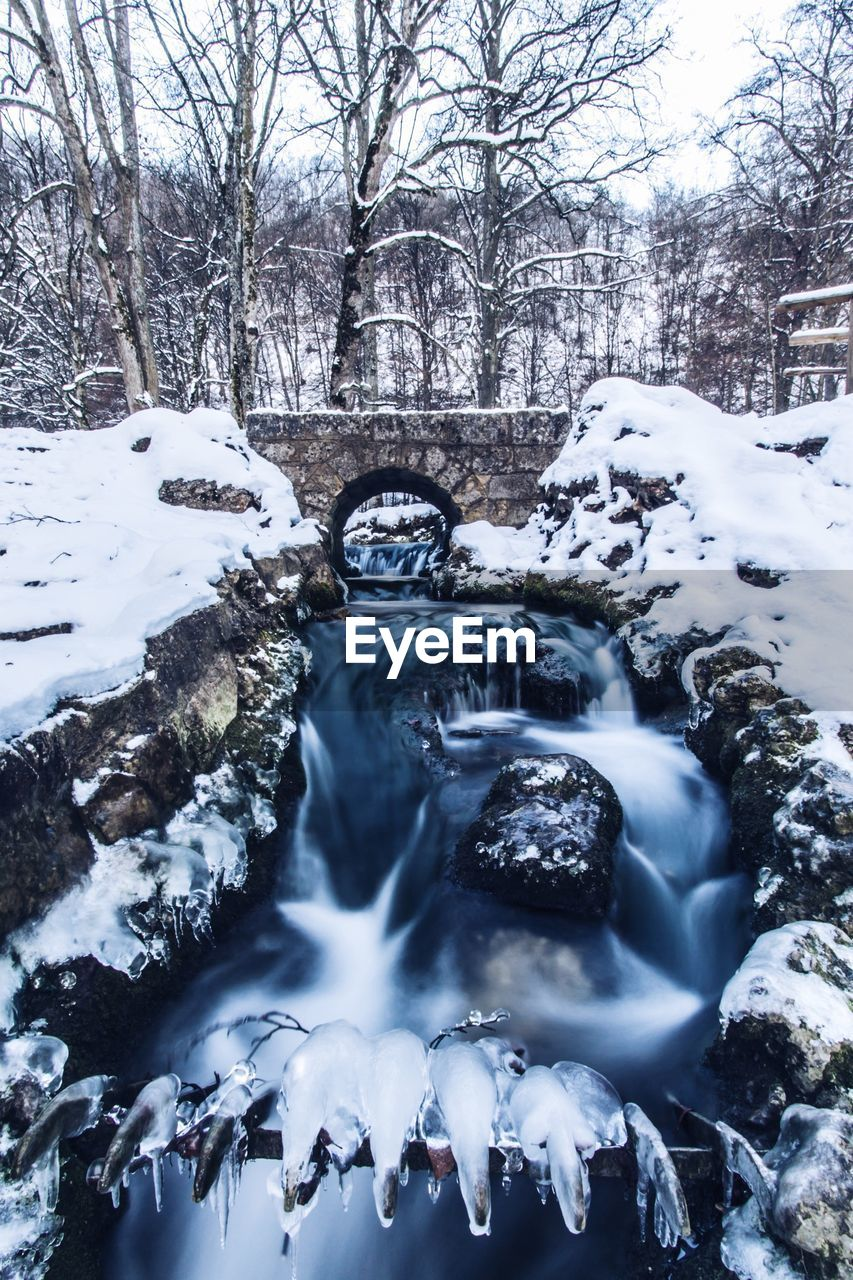River flowing during winter