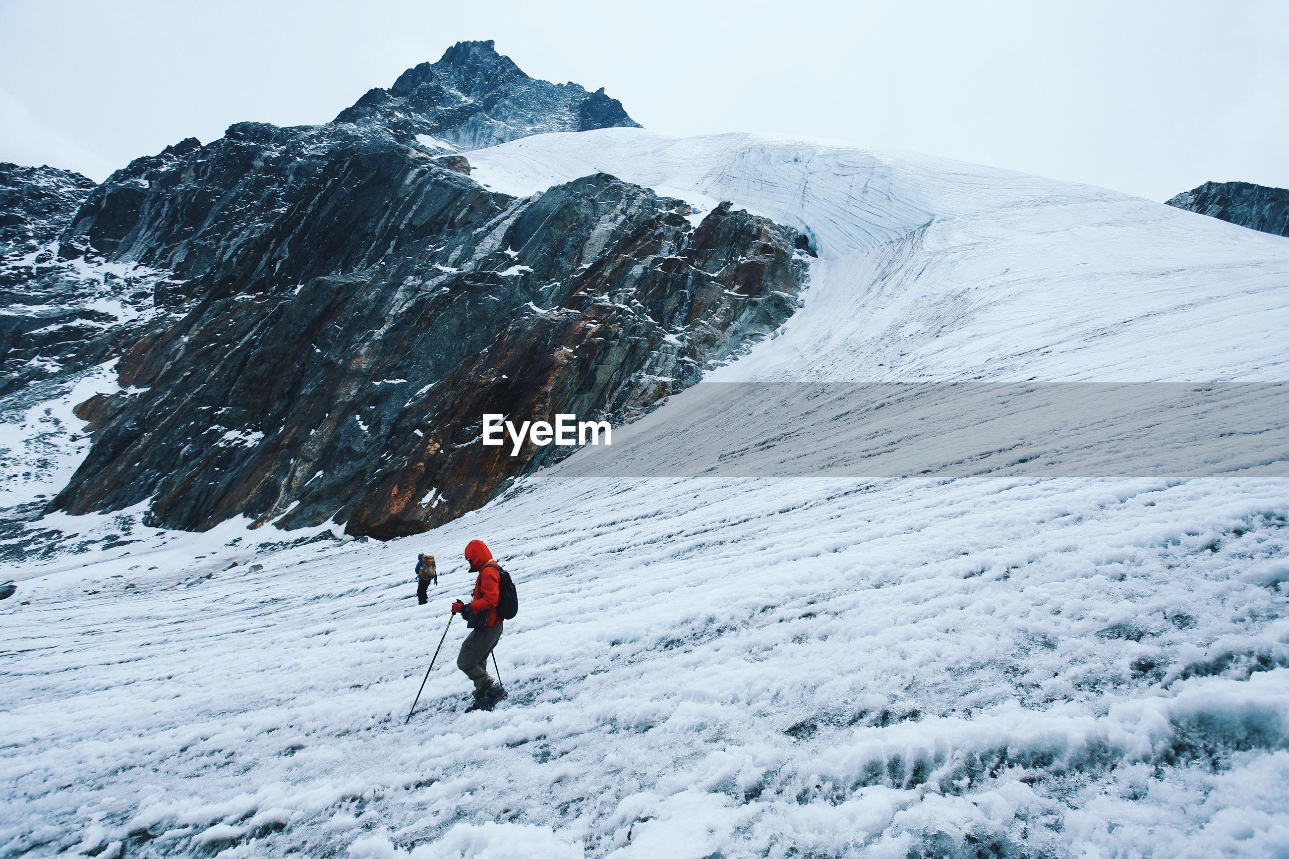 Man skiing on snow landscape