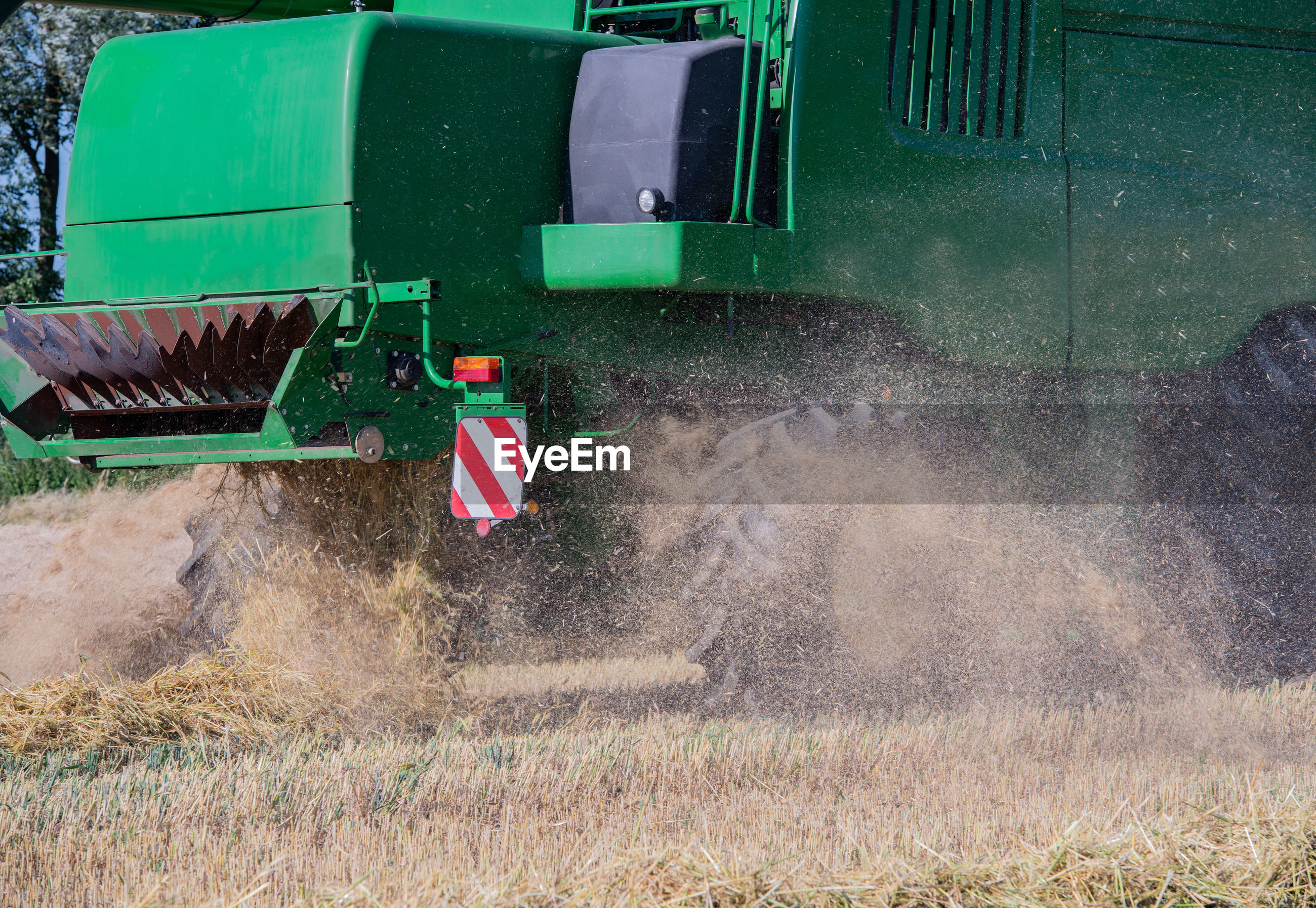 Agricultural machinery on field