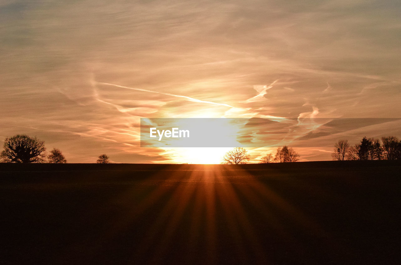 sunset, sun, silhouette, nature, landscape, sky, scenics, beauty in nature, sunlight, no people, tranquility, tree, outdoors