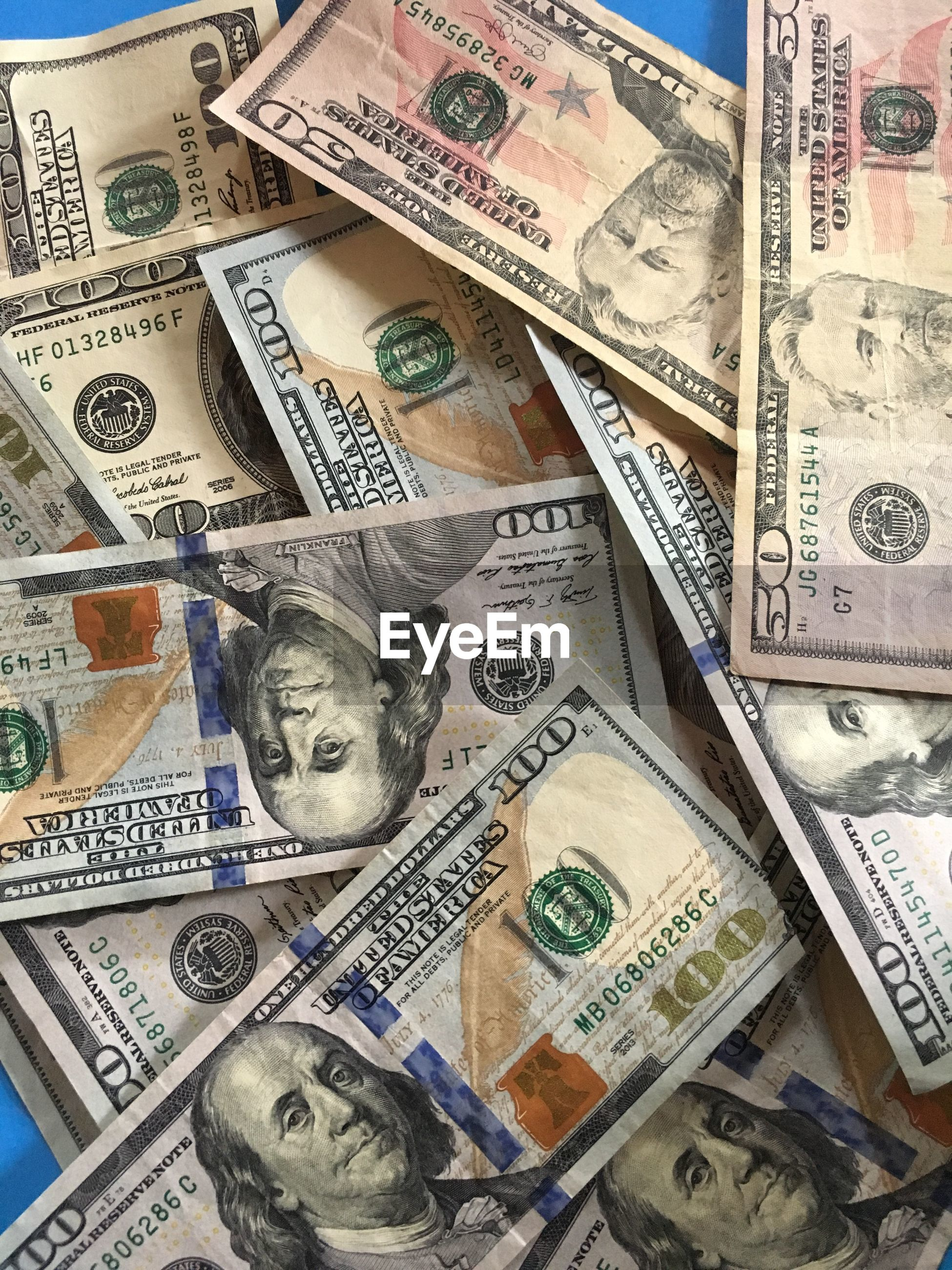 Full frame shot of us paper currency