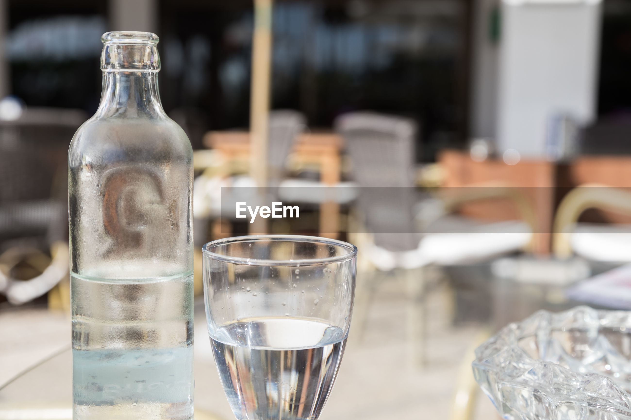 Close-up of drinking water on table