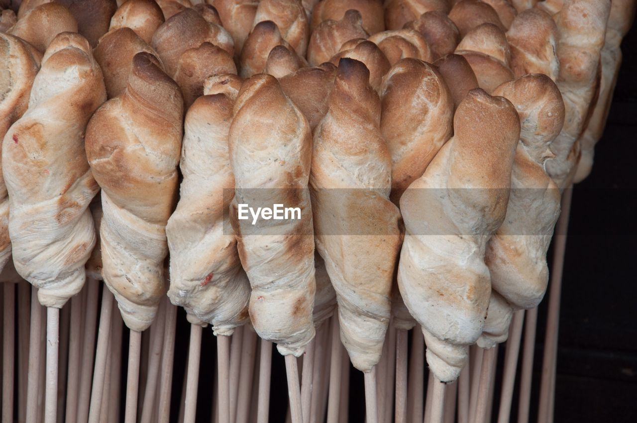Close-Up Of Bread On Stick