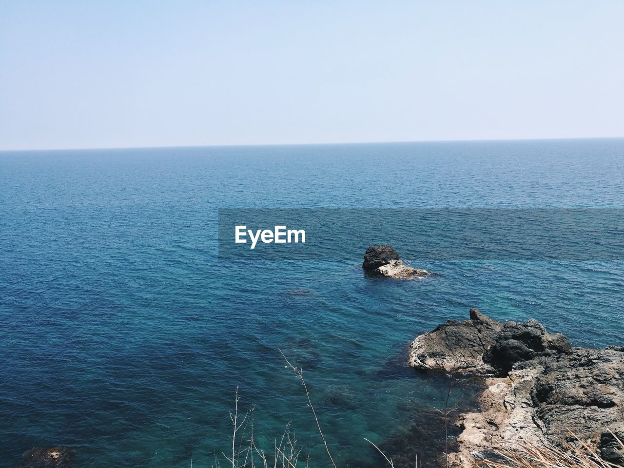 sea, horizon over water, water, nature, scenics, high angle view, tranquil scene, tranquility, beauty in nature, no people, day, clear sky, outdoors, sky, mammal