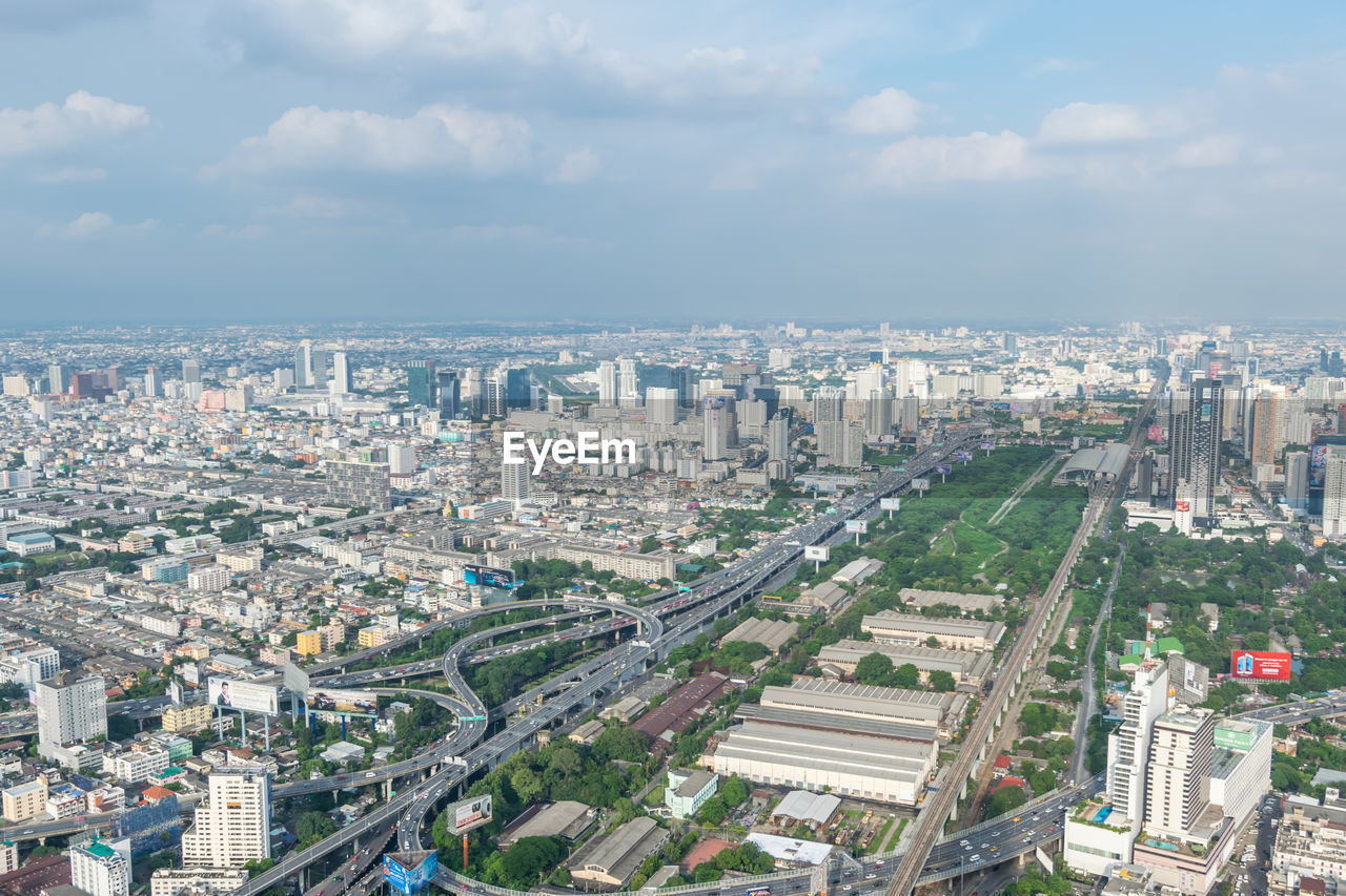 architecture, sky, cityscape, cloud - sky, building exterior, city, built structure, skyscraper, no people, aerial view, day, outdoors
