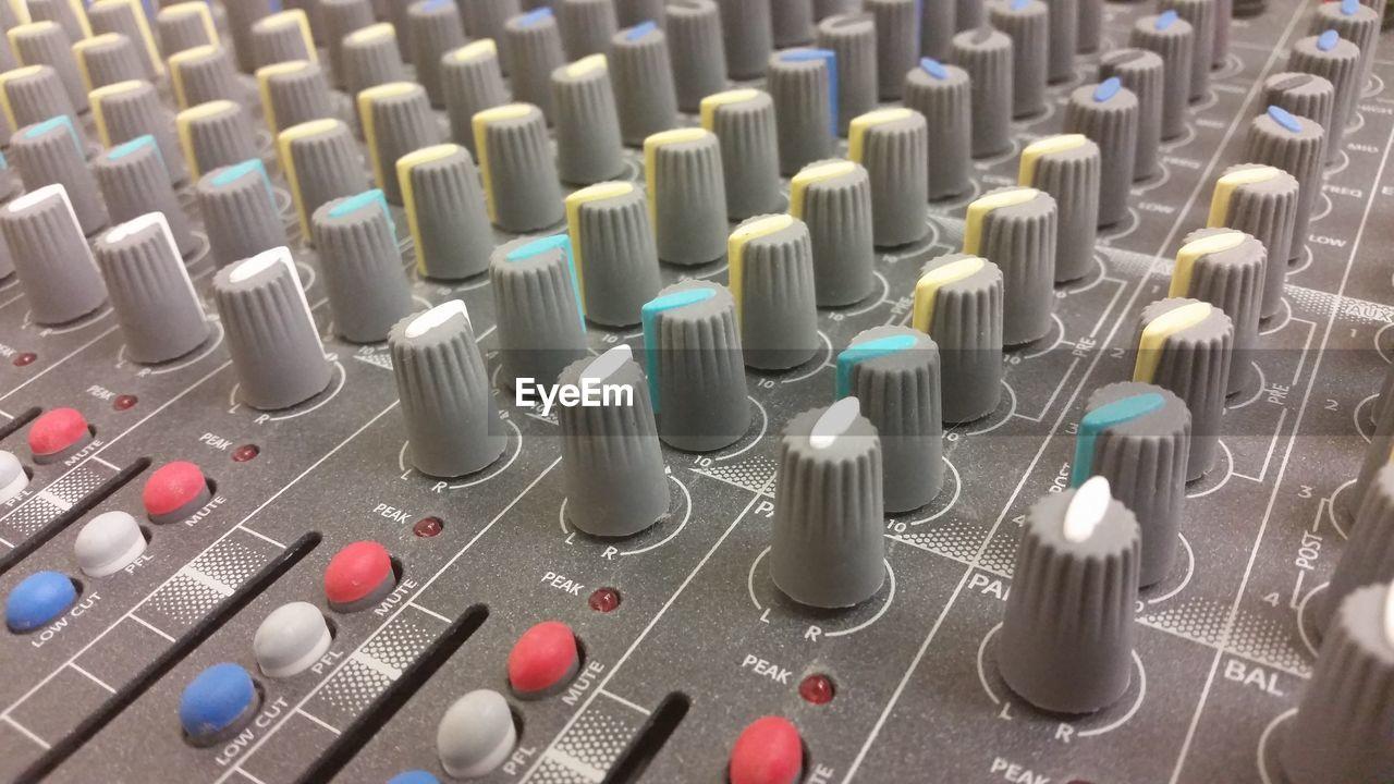 Full Frame Shot Of Sound Mixer In Studio