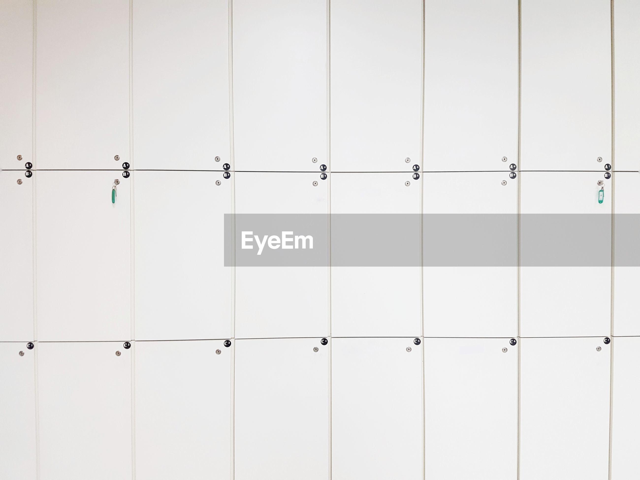 White cabinet, locker