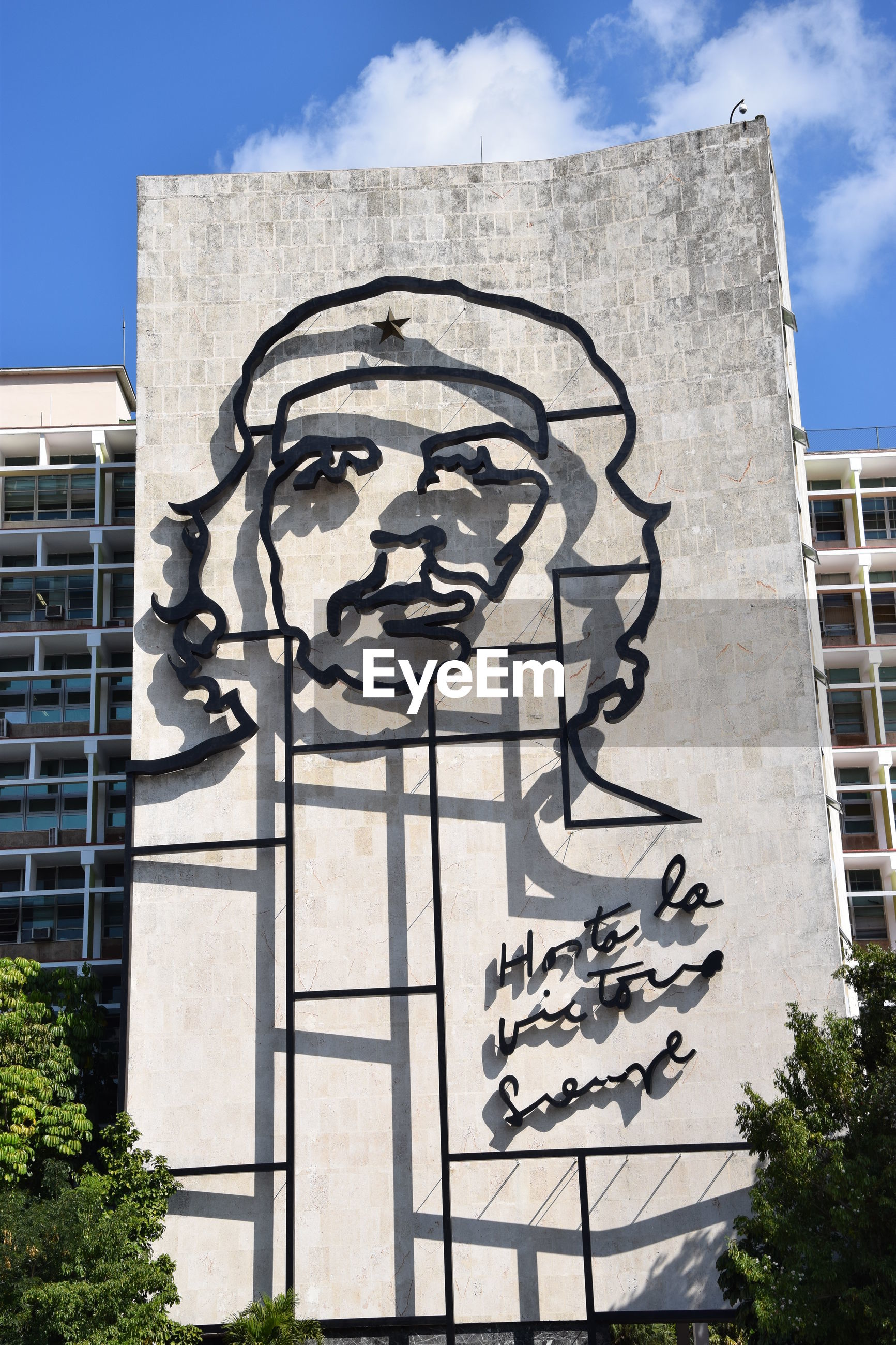 Ministry of the interior building with face of che guevara