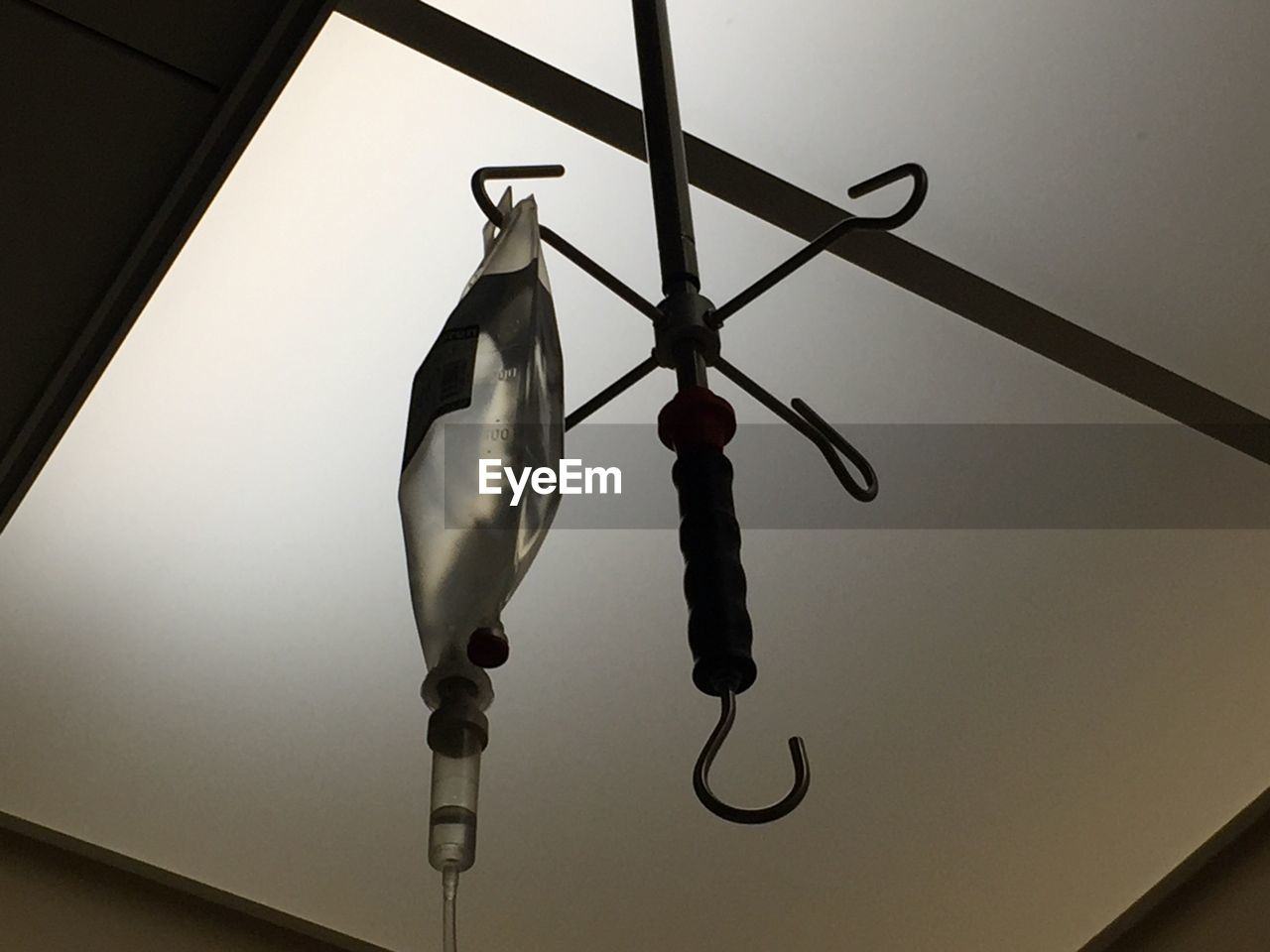hanging, no people, low angle view, indoors, close-up, day
