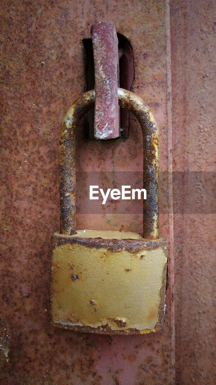 metal, rusty, security, padlock, no people, close-up, door, safety, weathered, lock, protection, chain, outdoors, day, latch