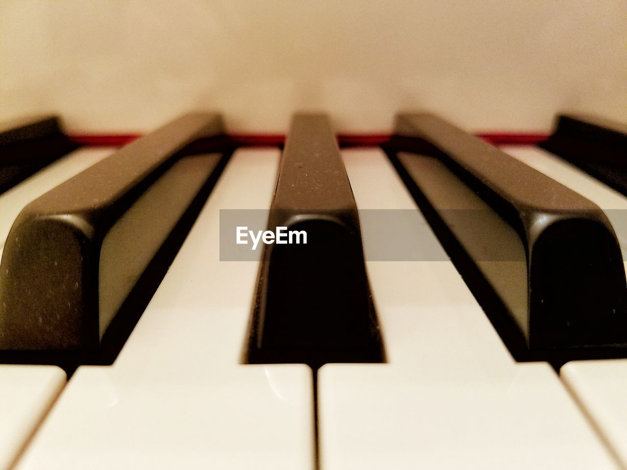 Cropped Image Of Piano