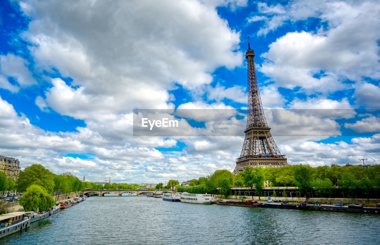 sky, architecture, cloud - sky, built structure, water, travel destinations, tower, tourism, travel, city, river, nature, history, tall - high, day, the past, no people, outdoors, spire