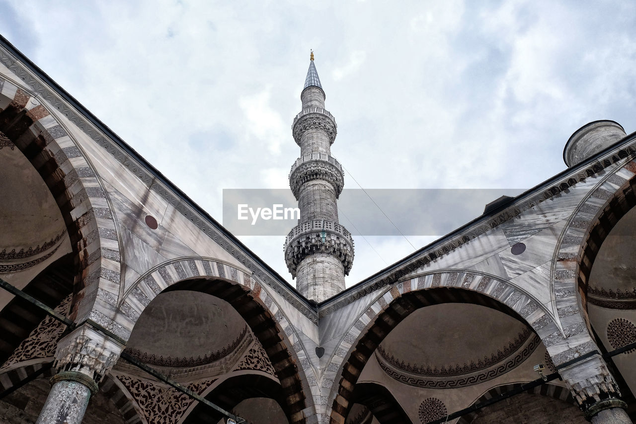 Low Angle View Of Mosque Against Sky