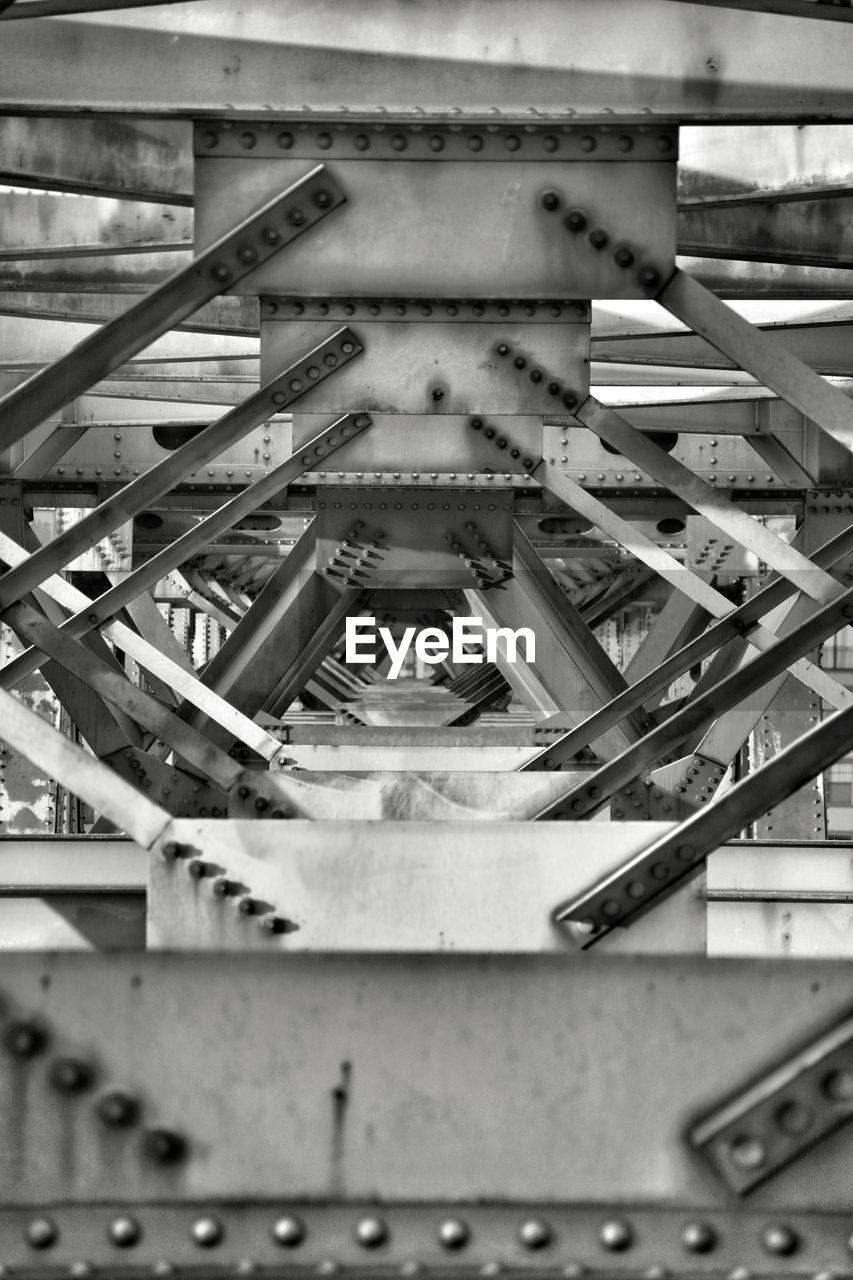 Full frame shot of metal bridge