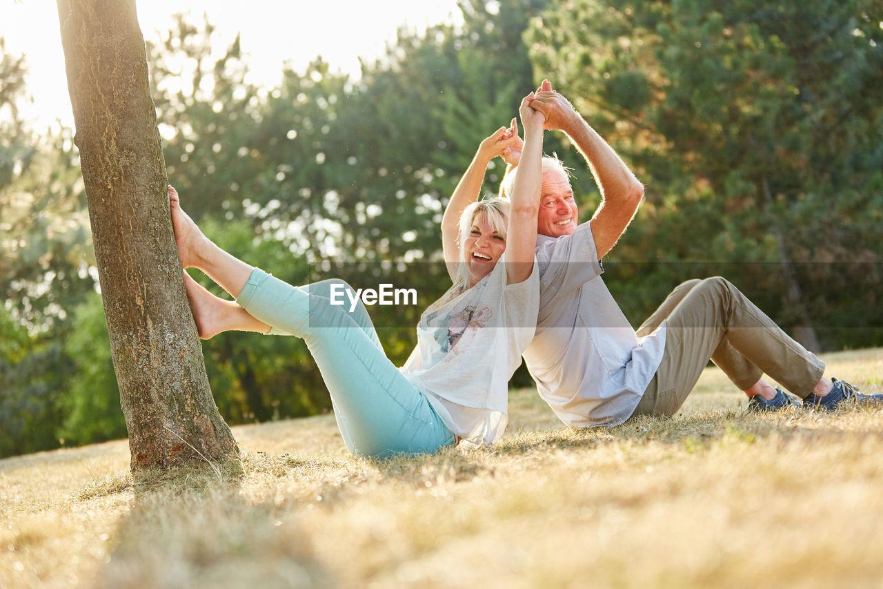 Senior Couple Enjoying At Park