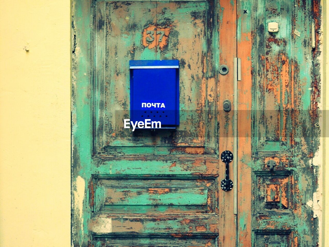 door, safety, blue, no people, outdoors, close-up, day