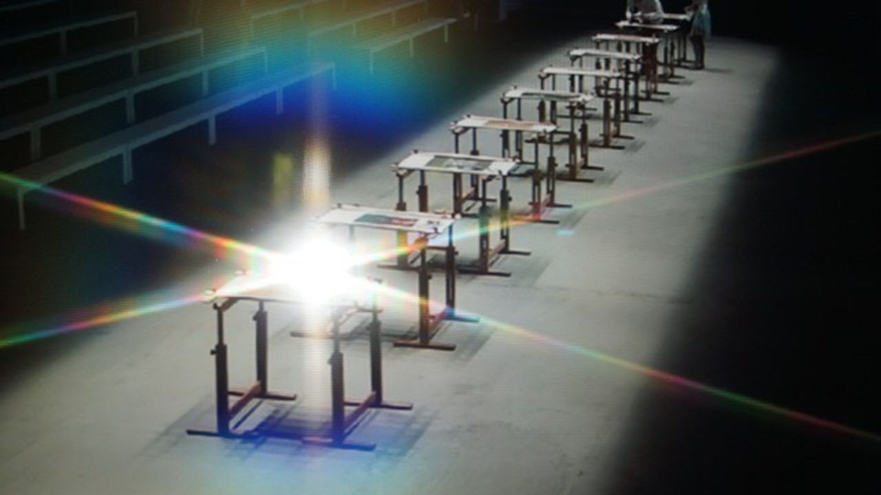 light - natural phenomenon, light beam, illuminated, no people, lens flare, lighting equipment, laser, architecture, absence, technology, industry, indoors, machinery, shadow, nature, equipment, sunbeam, stage, floodlit