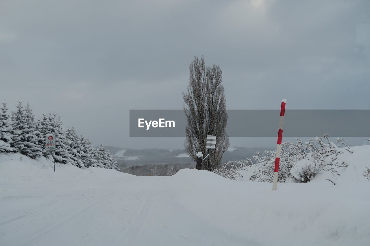 cold temperature, winter, snow, sky, covering, scenics - nature, beauty in nature, white color, nature, tranquil scene, land, tree, day, field, plant, non-urban scene, tranquility, environment, mountain, no people, snowcapped mountain