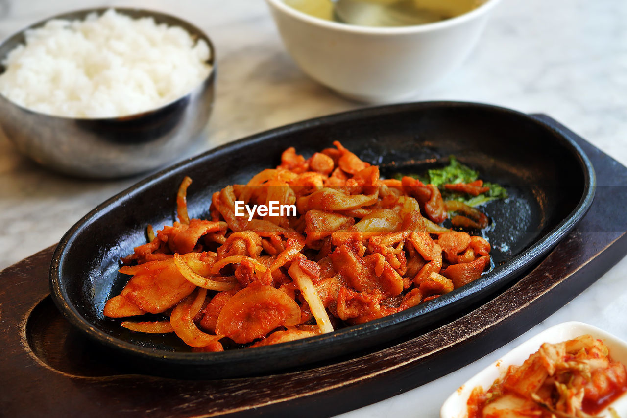 Close-Up Of Korean Food On Table